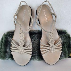 Naturalizer Tan Sandal Fabric Upper, 7 1/2M
